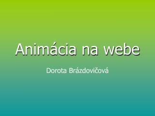 Animácia na webe