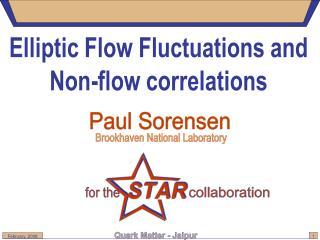 Elliptic Flow Fluctuations and Non-flow correlations