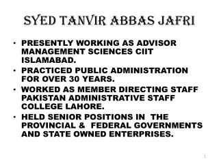 Syed Tanvir Abbas Jafri