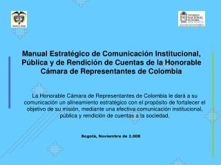 Bogotá, Noviembre de 2.008