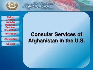 Consular Services of Afghanistan in the U.S.