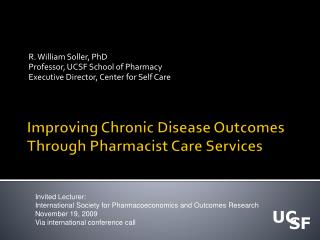 Improving Chronic Disease Outcomes Through Pharmacist Care Services