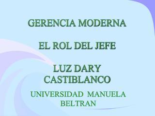 GERENCIA MODERNA EL ROL DEL JEFE LUZ DARY CASTIBLANCO