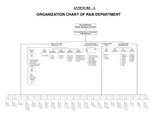 ORGANIZATION CHART OF R&B DEPARTMENT