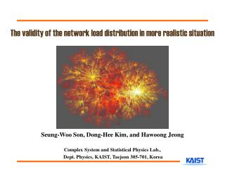 The validity of the network load distribution in more realistic situation