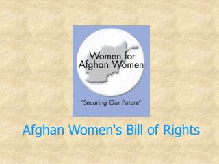 Afghan Women's Bill of Rights