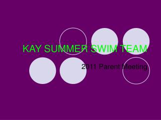 KAY SUMMER SWIM TEAM