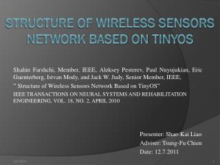 Structure of Wireless Sensors Network Based on  TinyOS