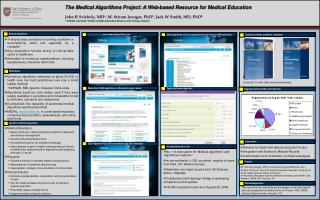 The Medical Algorithms Project: A Web-based Resource for Medical Education
