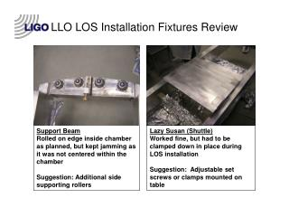 LLO LOS Installation Fixtures Review