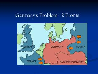 Germany�s Problem:  2 Fronts