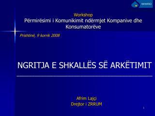 Workshop Përmirësimi i Komunikimit ndërmjet Kompanive dhe Konsumatorëve