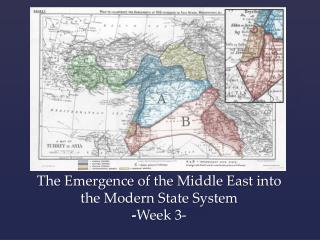 The Emergence of the Middle East into the Modern State System - Week 3-