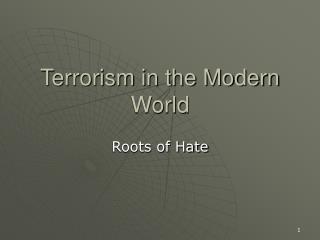 Terrorism in the Modern World