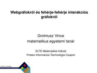 Webgráfokról és fehérje-fehérje interakciós gráfokról