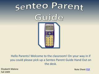 Se nteo Parent Guide