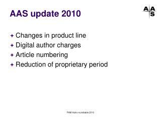 AAS update 2010