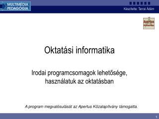 Oktatási informatika