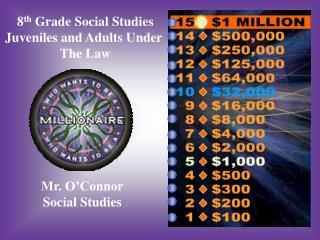 8 th  Grade Social Studies Juveniles and Adults Under  The Law