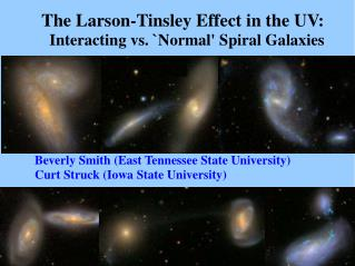 The Larson-Tinsley Effect in the UV:   Interacting vs. `Normal' Spiral Galaxies