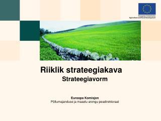 Riiklik strateegiakava