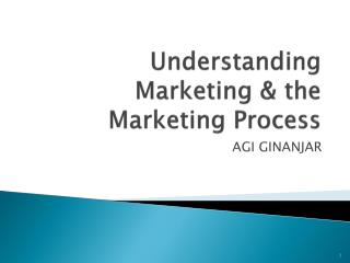 Understanding Marketing & the Marketing Process