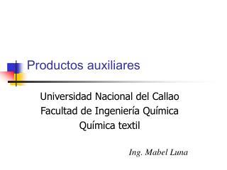 Productos auxiliares