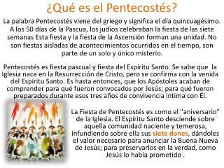 ¿Qué es el Pentecostés?