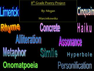 8 th  Grade Poetry Project By: Megan  Marcinkowska