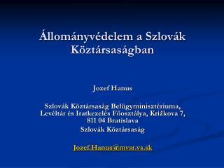 Állományvédelem a Szlovák Köztársaságban