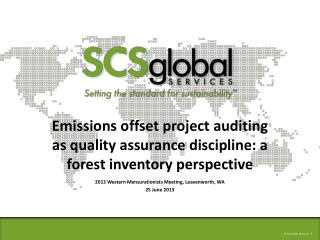 Emissions offset project auditing as quality assurance discipline: a forest inventory perspective