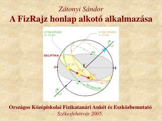 Zátonyi Sándor A FizRajz honlap alkotó alkalmazása