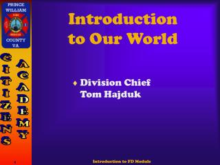 Introduction to Our World