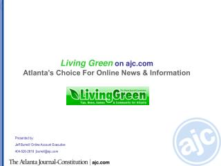 Living Green  on ajc  Atlanta's Choice For Online News & Information