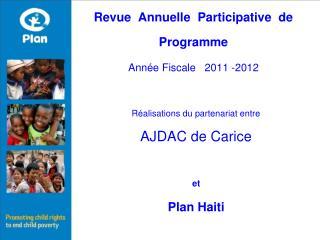 Revue  Annuelle  Participative  de  Programme Année Fiscale   2011 -2012