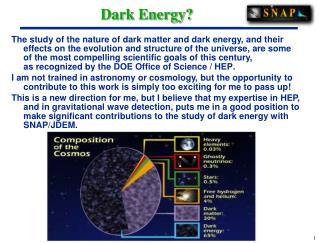 Dark Energy?