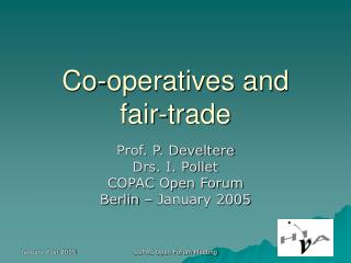 Co-operatives and  fair-trade