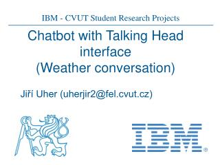 Chatbot with Talking Head interface (Weather conversation)