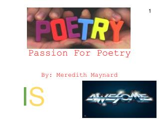 Passion For Poetry