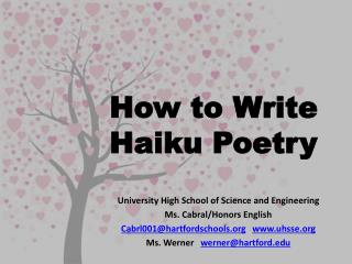 How to Write Haiku Poetry