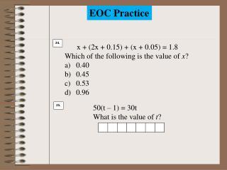 EOC Practice