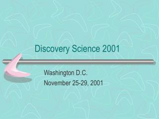 Discovery Science 2001
