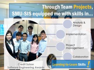 Through  Team  Projects , SMU-SIS equipped me with skills in�