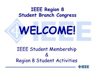 IEEE Region 8  Student Branch Congress