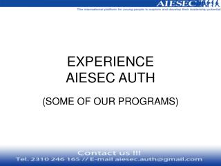 EXPERIENCE AIESEC AUTH