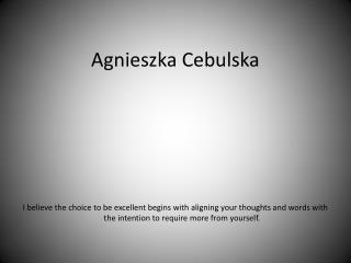 Agnieszka Cebulska