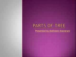 Parts of tree