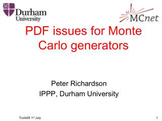 PDF issues for Monte Carlo generators
