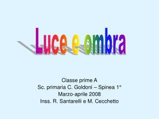 Classe prime A Sc. primaria C. Goldoni – Spinea 1° Marzo-aprile 2008
