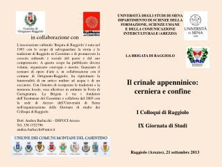 Università degli Studi di Siena DIPARTIMENTO  DI  SCIENZE DELLA FORMAZIONE, SCIENZE UMANE